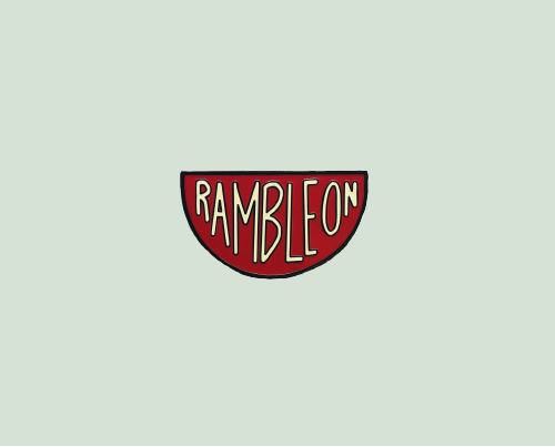 A Ramble On enamel pin